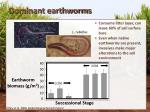 dominant earthworms
