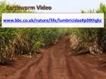 earthworm video