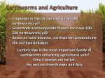 earthworms and agriculture