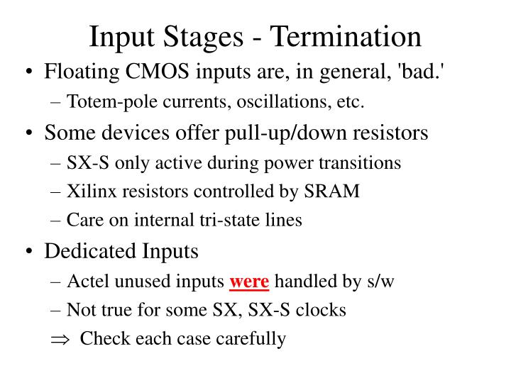 Input Stages - Termination