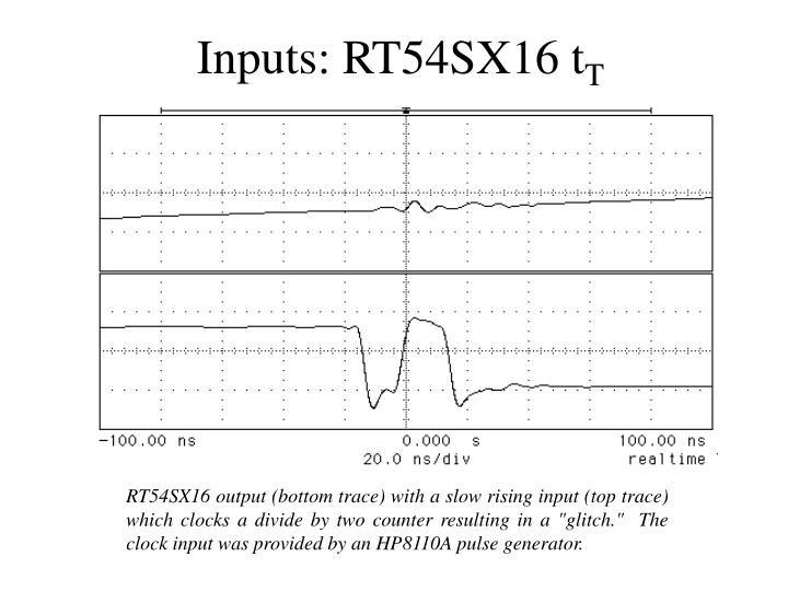 Inputs: RT54SX16 t
