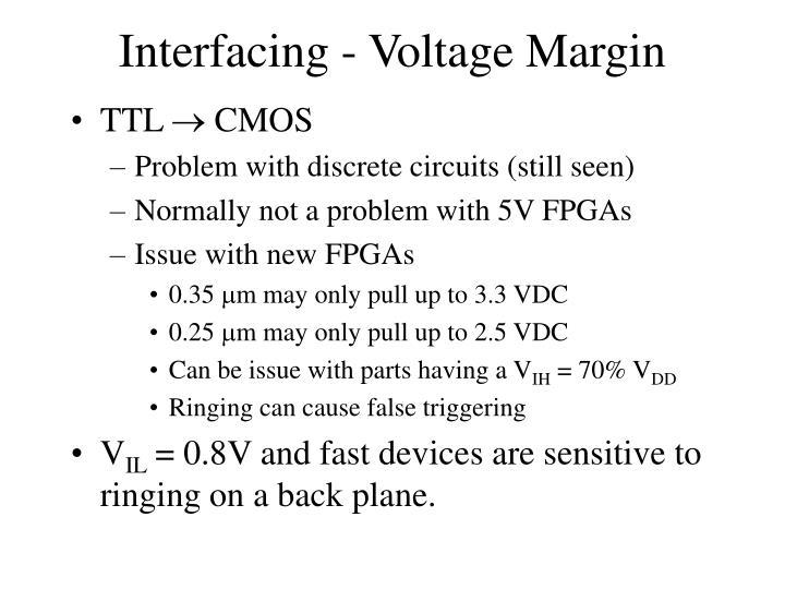 Interfacing - Voltage Margin