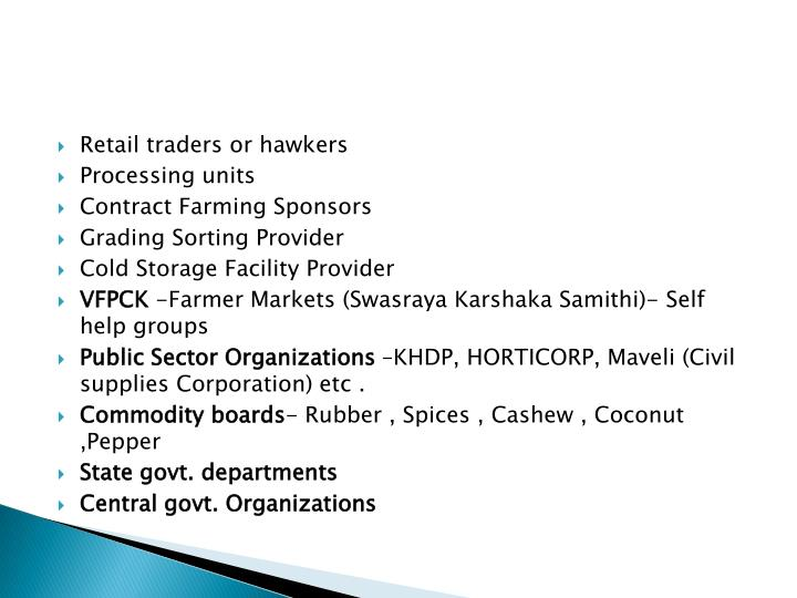 Retail traders or hawkers