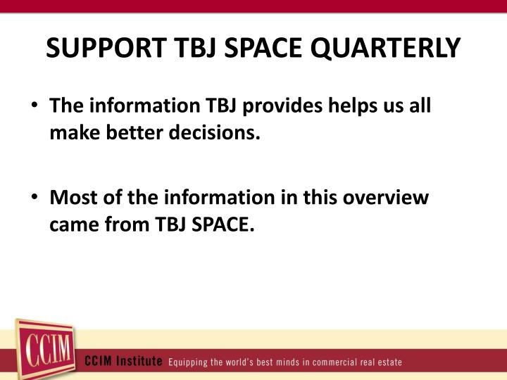 SUPPORT TBJ SPACE QUARTERLY