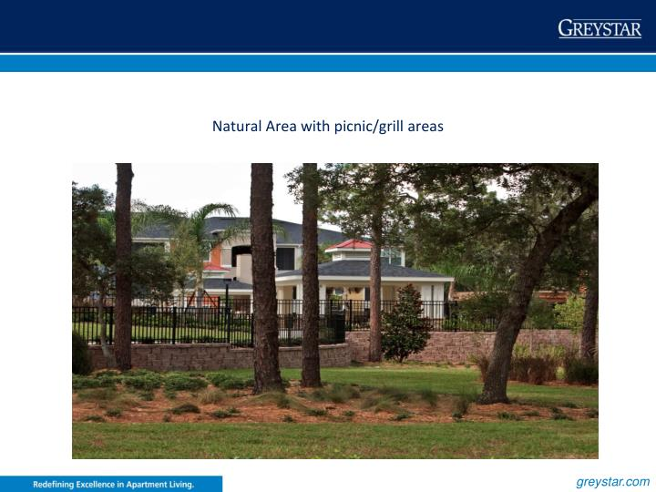 Natural Area with picnic/grill areas