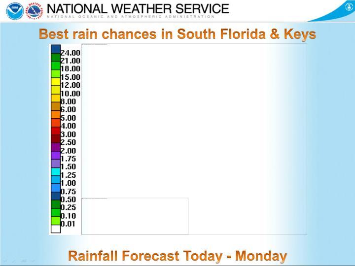 Best rain chances in South Florida & Keys