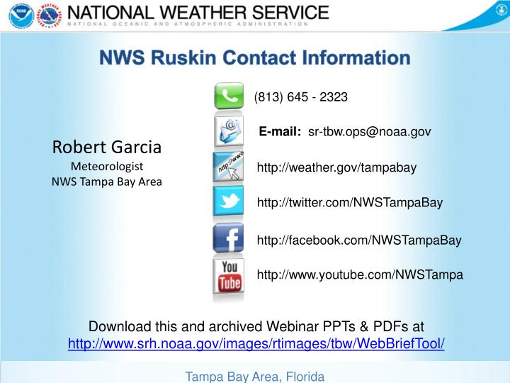 NWS Ruskin Contact Information