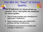 the nea six keys of school quality
