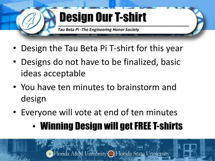 Design our t shirt