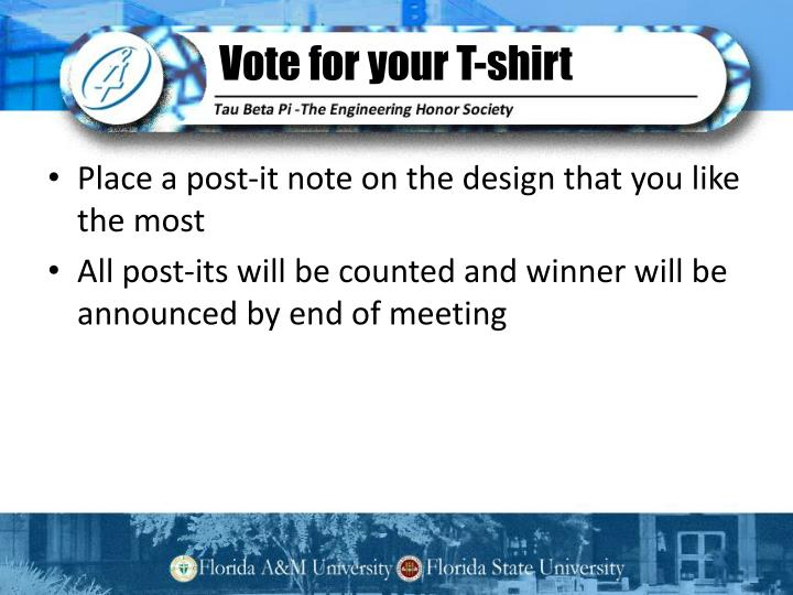 Vote for your T-shirt