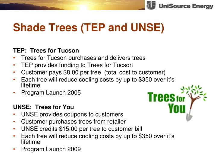 Shade Trees (TEP and UNSE)