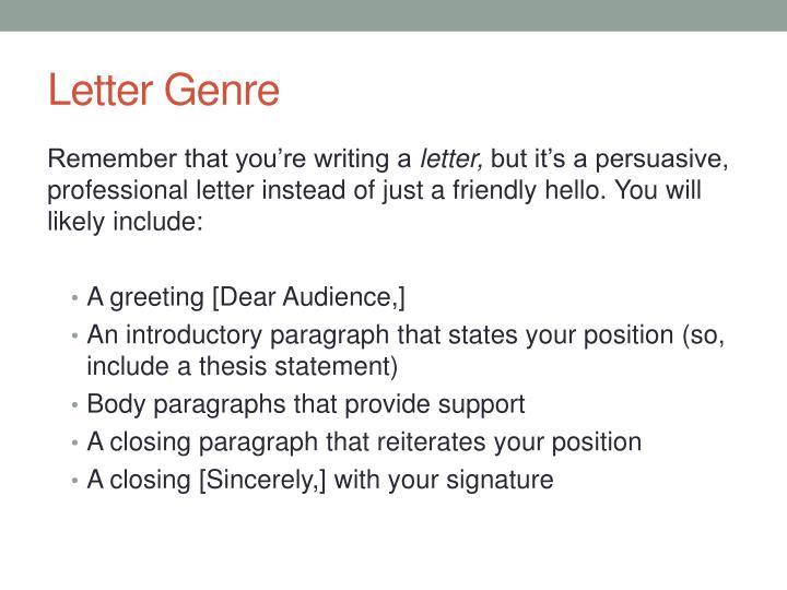 Letter Genre