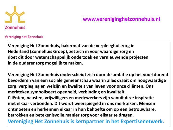 Www.vereniginghetzonnehuis.nl