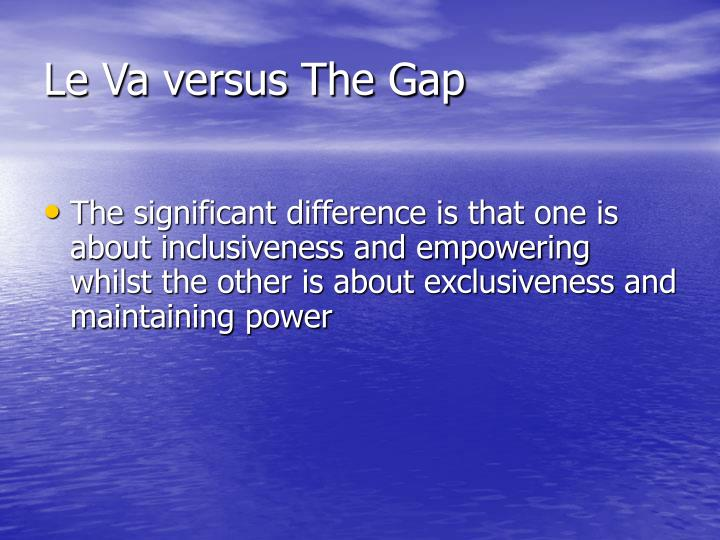 Le Va versus The Gap