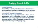 qualifying research 2 of 3