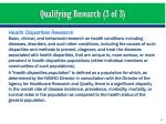 qualifying research 3 of 3