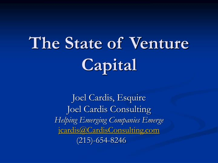 the state of venture capital n.