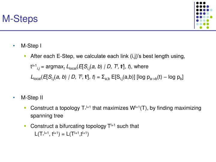 M-Steps