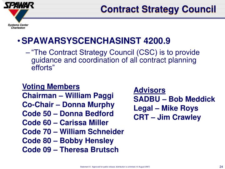 Contract Strategy Council