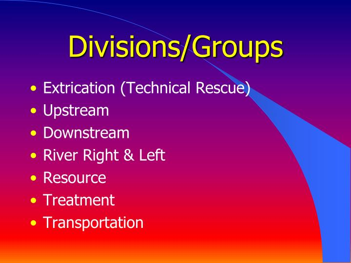 Divisions/Groups