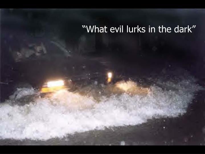 """""""What evil lurks in the dark"""""""