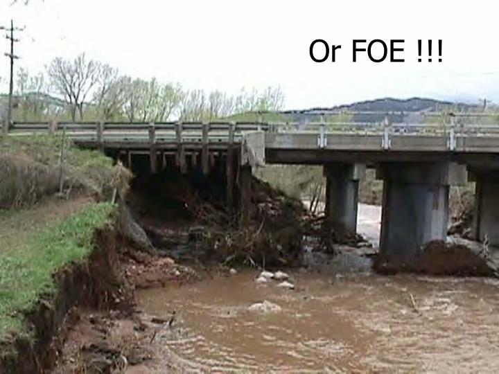 Or FOE !!!
