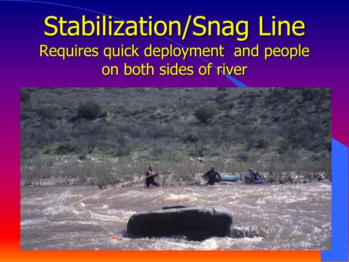 Stabilization/Snag Line
