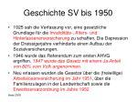 geschichte sv bis 1950