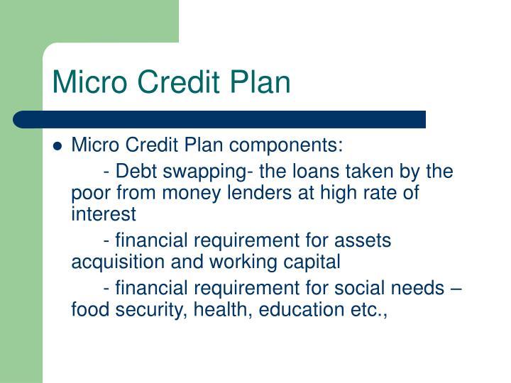 Micro Credit Plan