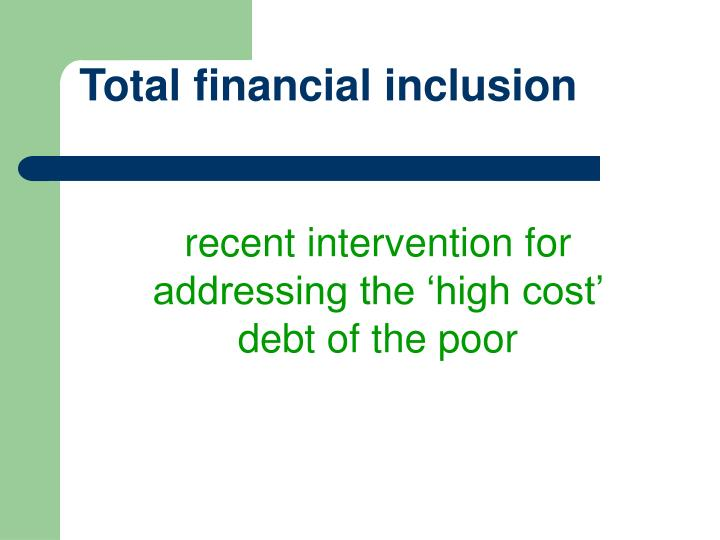 Total financial inclusion