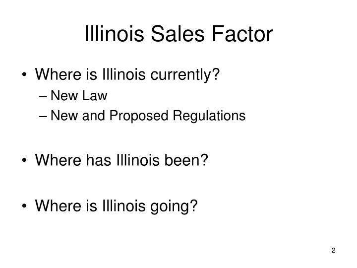 Illinois sales factor
