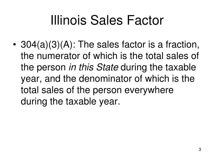 Illinois sales factor1