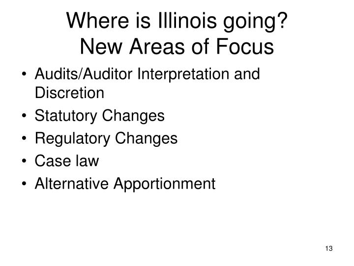 Where is Illinois going?