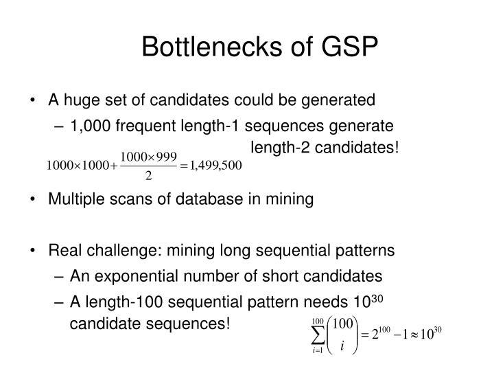 Bottlenecks of GSP