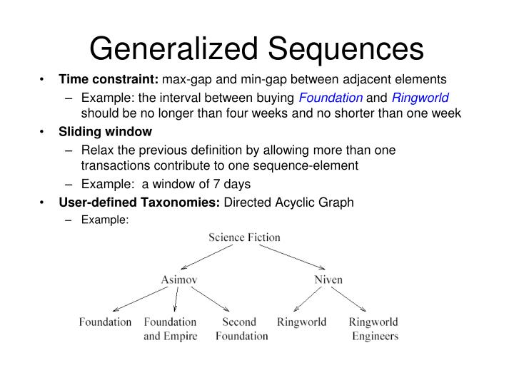 Generalized Sequences