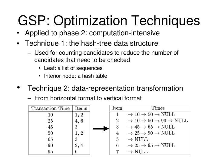 GSP: Optimization Techniques
