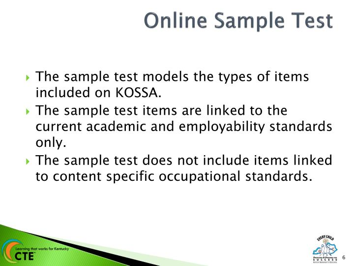 Online Sample Test