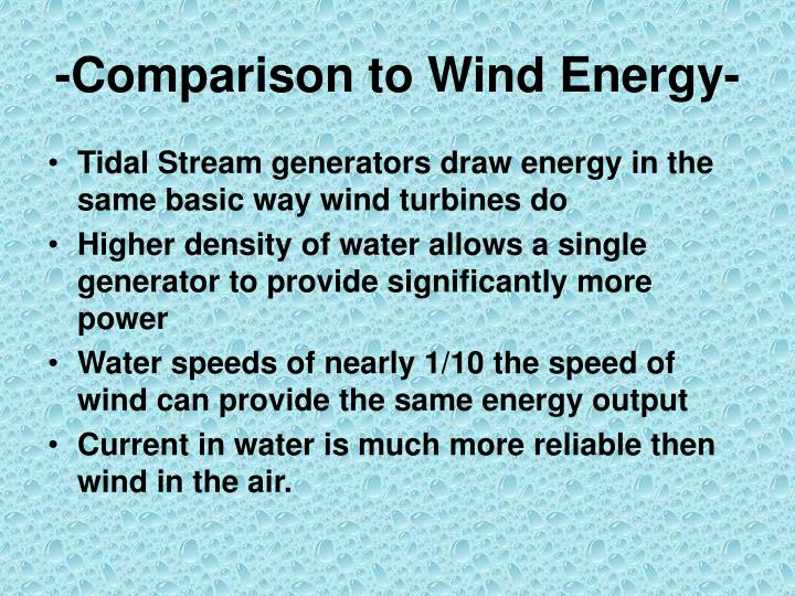 -Comparison to Wind Energy-
