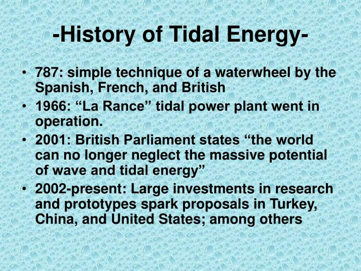History of tidal energy