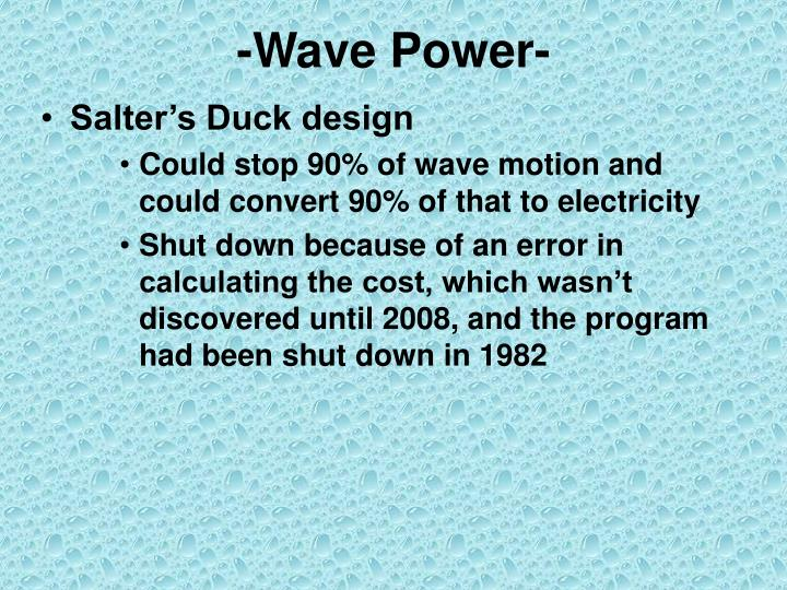 -Wave Power-