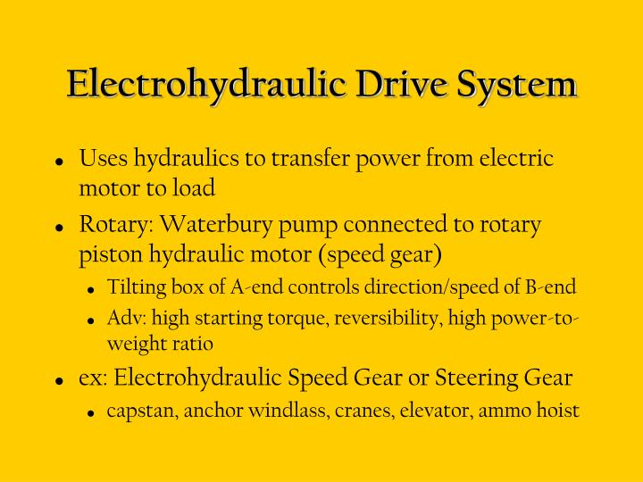 Electrohydraulic Drive System