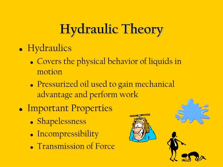 Hydraulic Theory