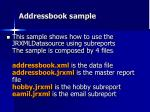 addressbook sample
