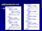 addressbook xml