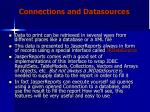 connections and datasources