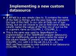 implementing a new custom datasource2