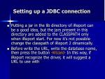 setting up a jdbc connection2
