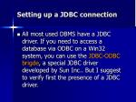 setting up a jdbc connection6