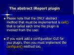 the abstract ireport plugin1