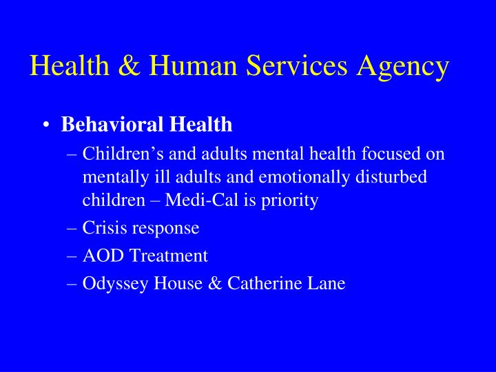 Health human services agency